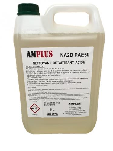 Liquide de lavage, nettoyant, detartrant acide amplus jeros